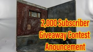 2,000 Subscriber Giveaway Contest Announcement