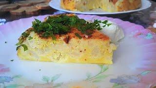 Запеканка с цветной капустой (брокколи, брюссельской)