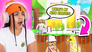 I Found SCAMMED NEON PETS In My Best Friends Mansion! Roblox Adopt Me