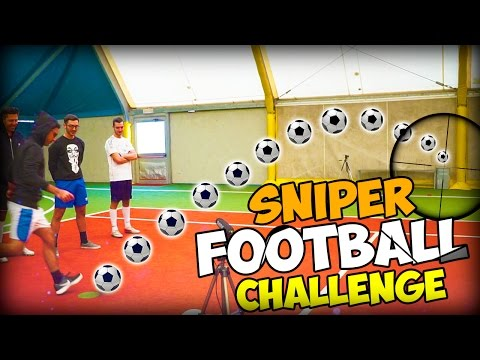 SNIPER FOOTBALL CHALLENGE w/ IlluminatiCrew & Melagoodo