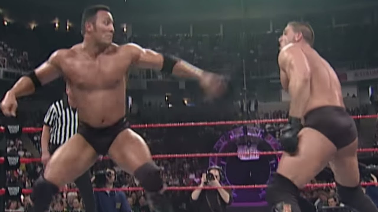 the rock vs ken shamrock intercontinental championship match