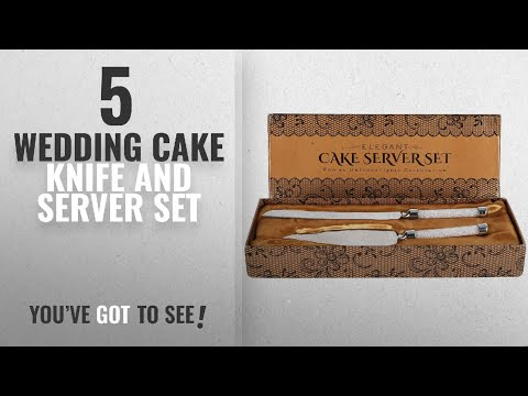 Top 10 Wedding Cake Knife And Server Set [2018]: Cake Knife And Server Set With Glittering Bead