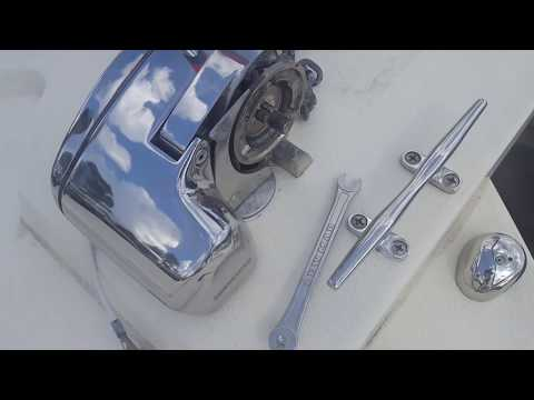 Lewmar Profish 700 Windlass Repair, On Parker 2520 XLD