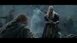 Властелин колец: Леголас и Гимли после осады Хельмовой Пади (вырезанный из фильма)