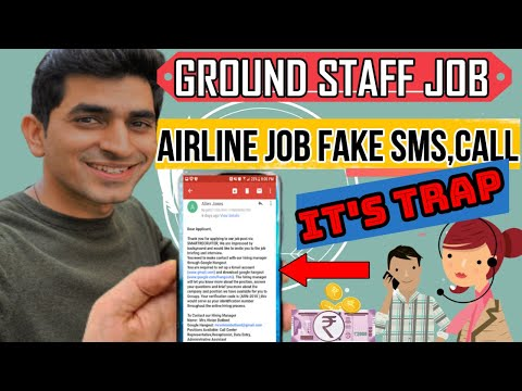 How to check airport job fake or real | Charges for job in airline | How to identify fake job CALL