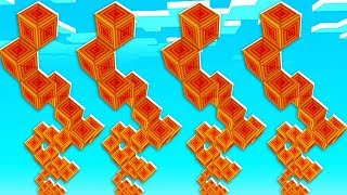 Gambar cover Magma Lucky Block Spiral Staircase Race - Minecraft Modded Minigame | JeromeASF