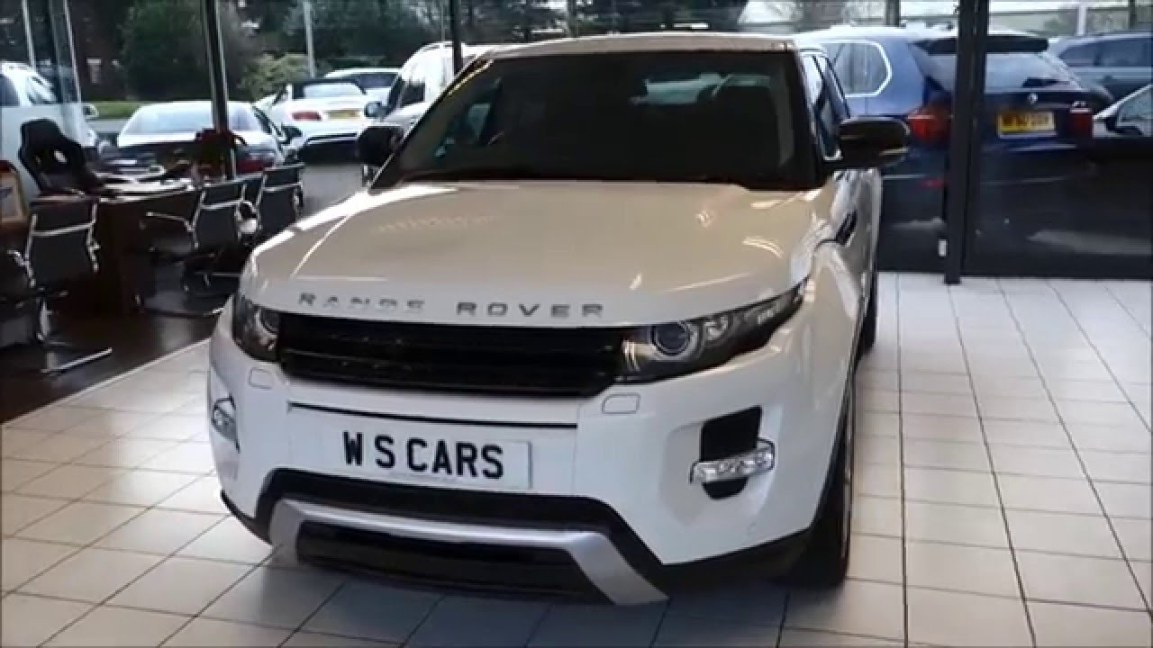 land rover range rover evoque white panoramic sunroof dual view wimbledon specialist cars