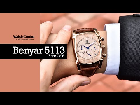 Benyar 5113 Square Dial Rose Gold Men's Gift Watch Review