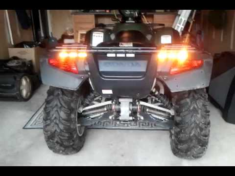 Emergency Strobe Lights >> ATV with LED amber lights and plow - YouTube