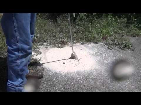Cutting Through Asphalt With Hydro Excavation