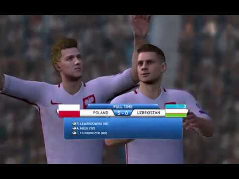 Poland - Uzbekistan 5-0 Fabrizzio1985 FIFA 14 All National Teams Patch 2014 PC