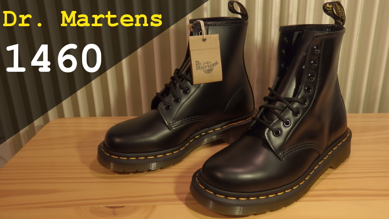 compare price top-rated great fit Dr. Martens Original 1460 | Black Smooth Unisex Booties | Unboxing and  overview