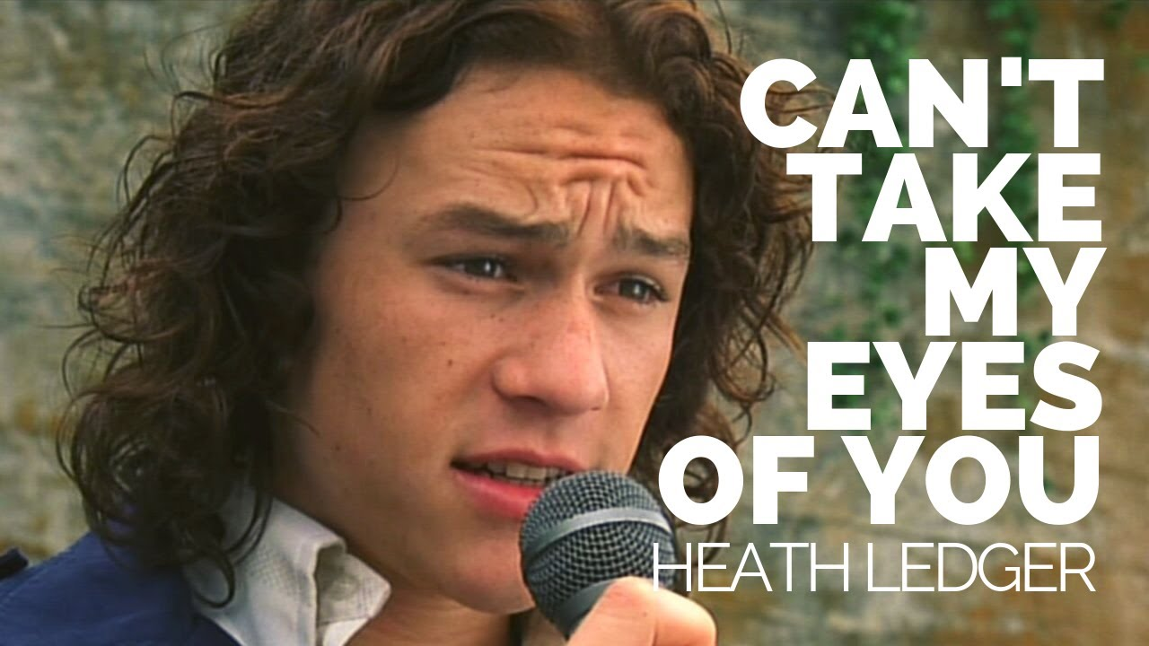 """Heath Ledger Sings """"can't take my eyes off you""""."""
