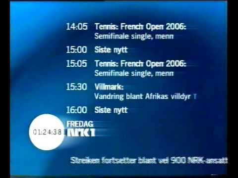 NRK1 avslutning 2006-06-09