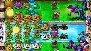 """Plants vs. Zombies: Survival: Pool (Hard): Đội hình 10 bắp + """"No Repair"""" (có thang 3x2)"""