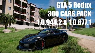GTA 5 Redux 300 CARS PACK HOW TO INSTALL + GAMEPLAY