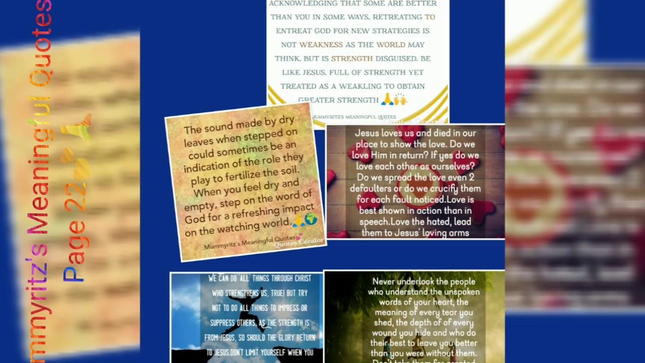 Mummyritz's Meaningful Quotes Pg 22💕🙏