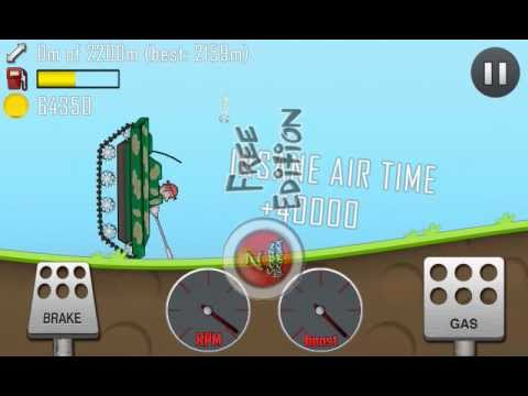 Hill Climb Racing - How to get unlimited coins (Bug/Glitch Tank) NO ROOT