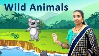 Wild animals in English through Telugu | for kids