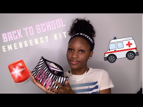 everything you NEED in your school emergency kit 2019! thumbnail