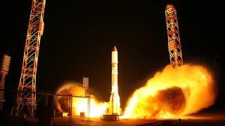 Lanzamiento del cohete ruso Proton-M con un satélite británico