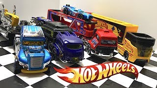 Unboxing Hot Wheels Semi Truck Haulers!