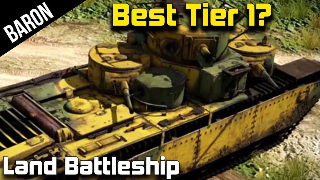 War Thunder Best Tank at Tier 1? The Soviet Land Battleship! - YouTube