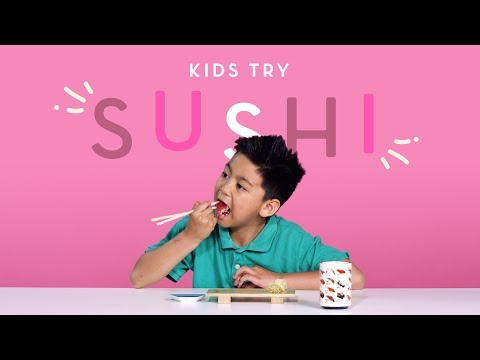 Kids Try Sushi | Kids Try | HiHo Kids