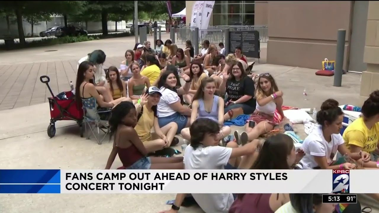 Fans camp out ahead of Harry Styles concert tonight