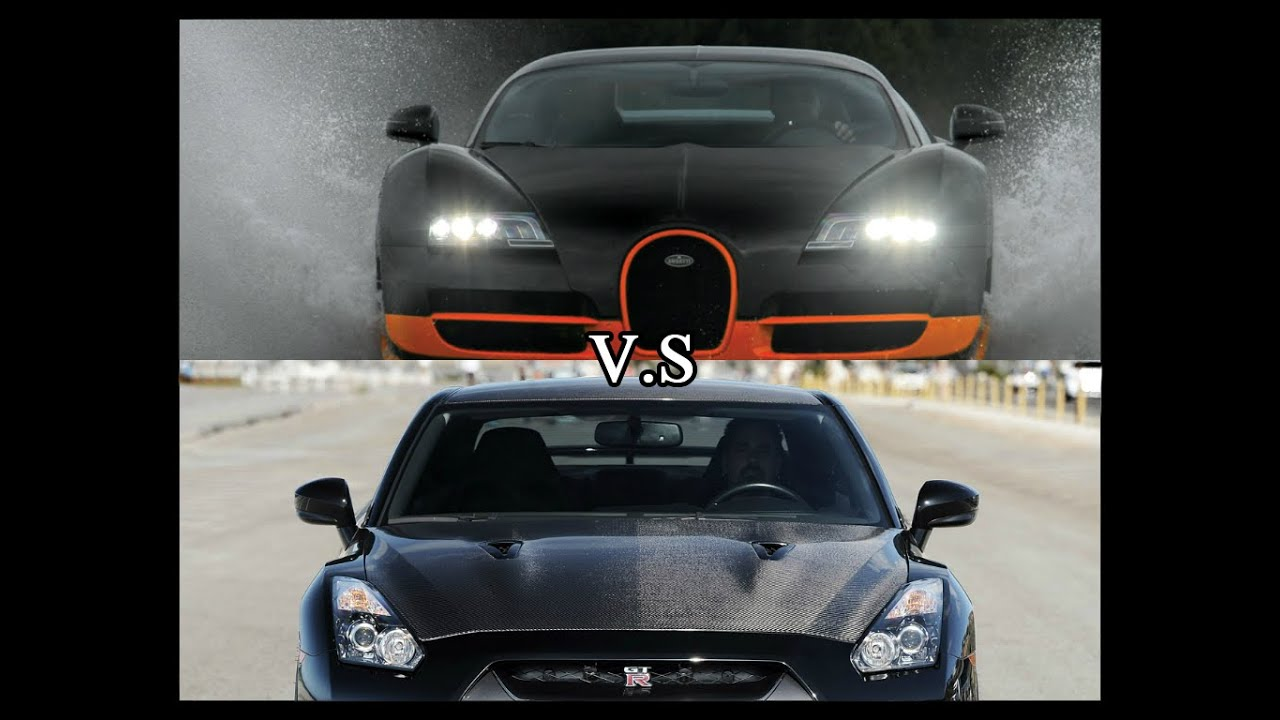 bugatti veyron super sport vs nissan gt r ams alpha 12. Black Bedroom Furniture Sets. Home Design Ideas