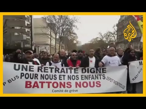 ???? الإضرابات مستمرة بفرنسا احتجاجا على مشروع قانون إصلاح نظام التقاعد  - 15:00-2019 / 12 / 11