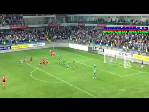 Qəbələ - Panatinaikos 1-2 qollar, FK Qabala - Panathinaikos 1-2 all goals