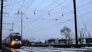 Amtrak & NJ Transit Train Action during Ice Storm