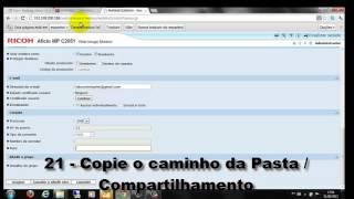 CONFIGURANDO SMB - SCAN TO FOLDER(PASTA) - RICOH