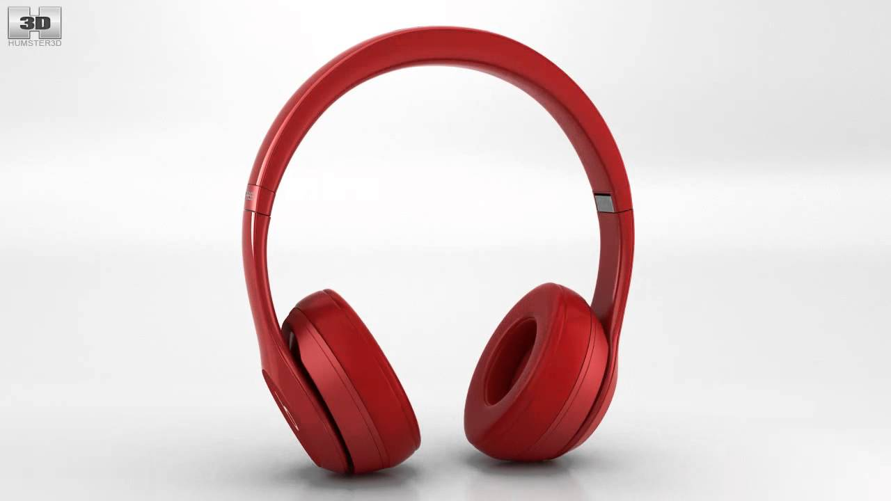 70b3328894f Beats by Dr. Dre Solo2 Wireless Headphones Red by 3D model store  Humster3D.com