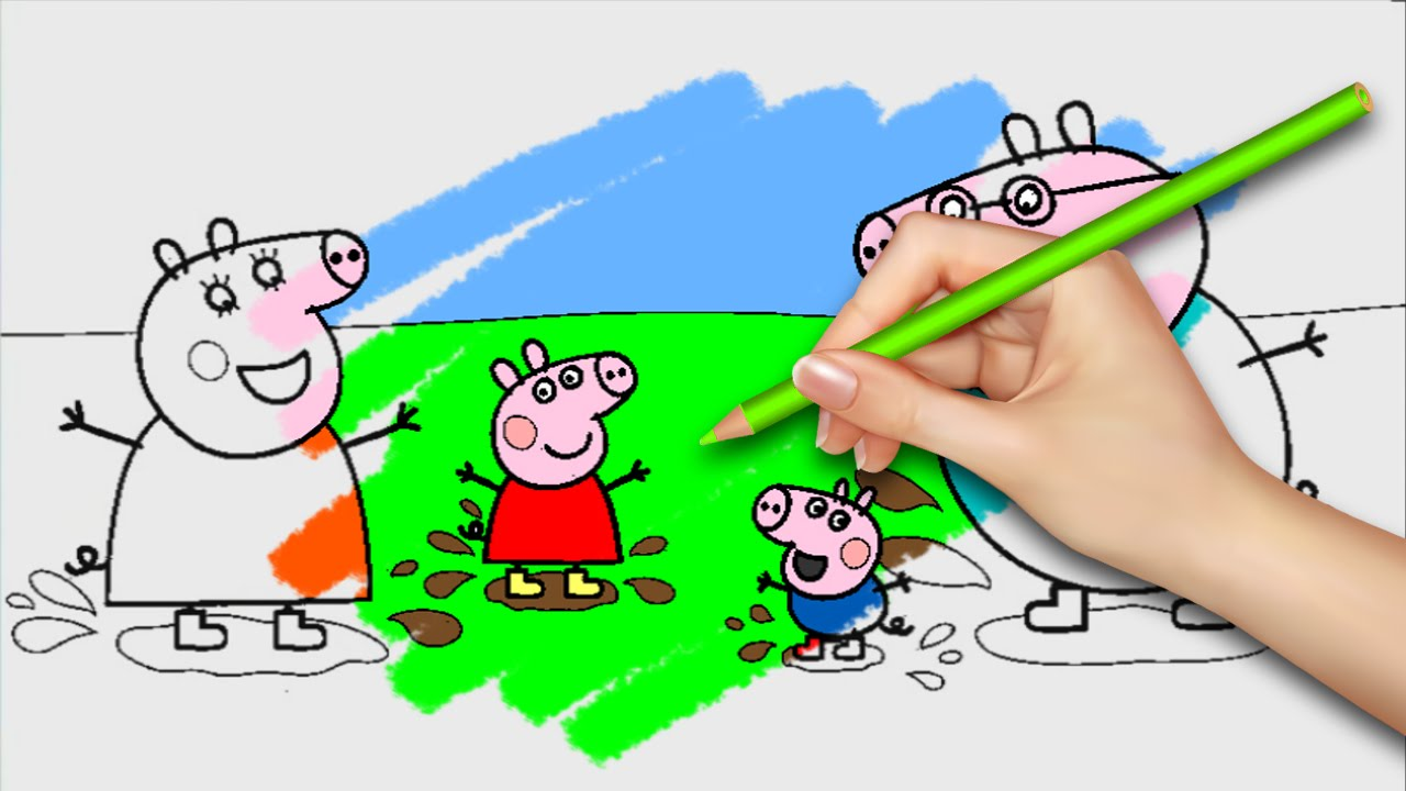new! peppa pig coloring pages for kids coloring games part