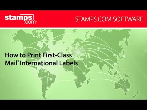 Stamps com - How to Print First Class Mail International Labels