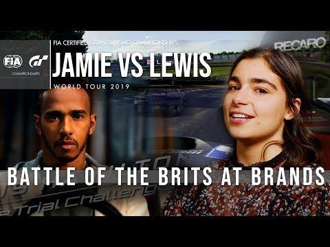 GT Sport Challenge: Jamie Chadwick vs Lewis Hamilton