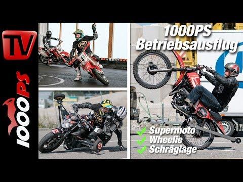 Supermoto-, Schräglagen- und Wheelie-Training - Action Pur bei FM Mannhard