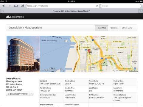Lease Analysis on an iPad