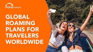 International roaming plans for travelers world wide