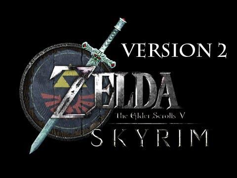 Elder Scrolls V Skyrim Mods - BEST Legend of Zelda Link Skin Mod + Hylian Shield & Master Sword Download