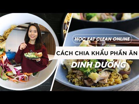HỌC EAT CLEAN ONLINE - CÁCH CHIA KHẨU PHẦN ĂN DINH DƯỠNG
