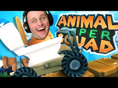 PLAYING PEWDIEPIE'S NEW GAME! Animal Super Squad! *not clickbait* (kinda)