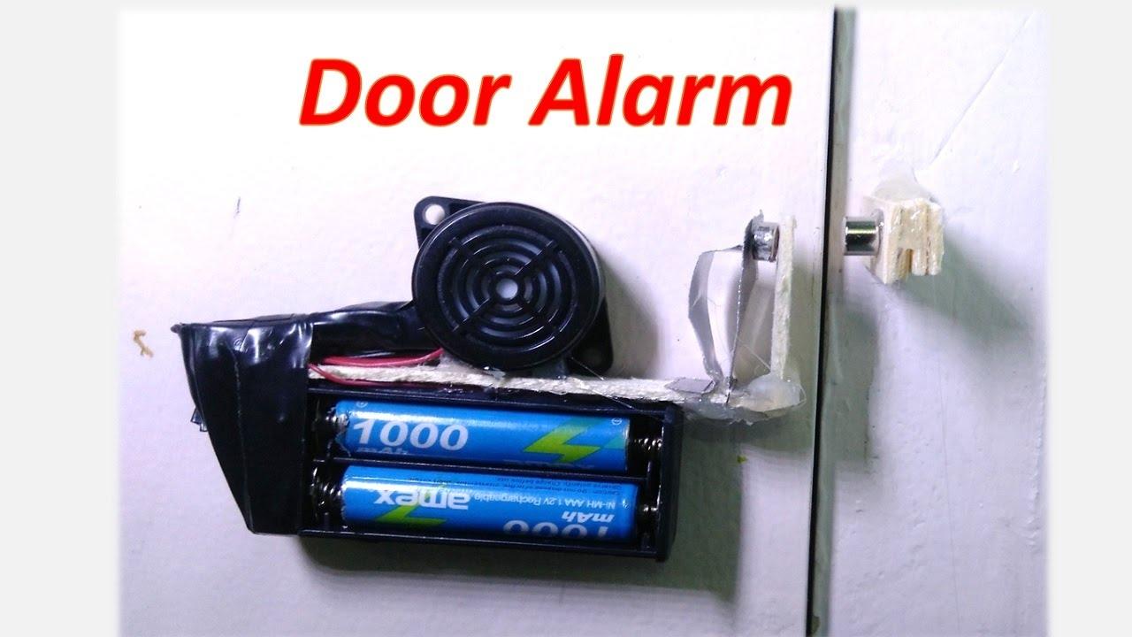 How to make a door alarm - DIY Anti-theft doorbell - YouTube