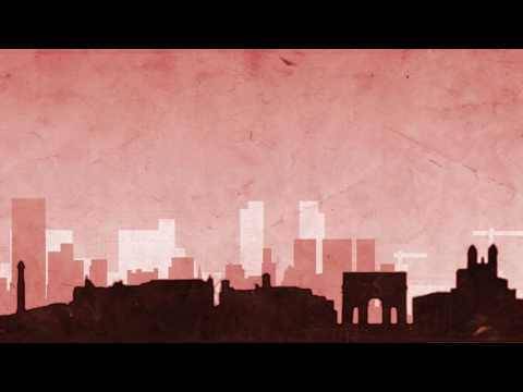 Rome Cityscape paper texture animation - Free motion graphics // 50fps