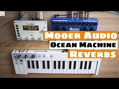 Mooer Audio Ocean Machine With SYNTHESIZERS - Reverb Modes Sound Demo