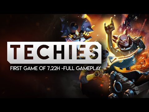 DOTA 2-- FIRST TECHIES GAME OF 7.22h-- Full Gameplay