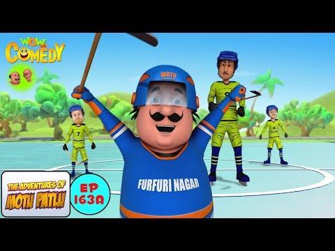 ice hockey motu patlu in hindi 3d animated cartoon series for