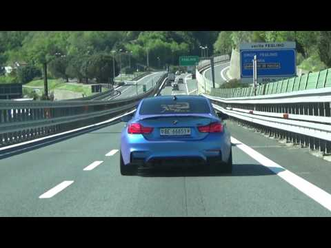 BMW M4 With Akrapovic Exhaust Crazy Sound In Tunnels